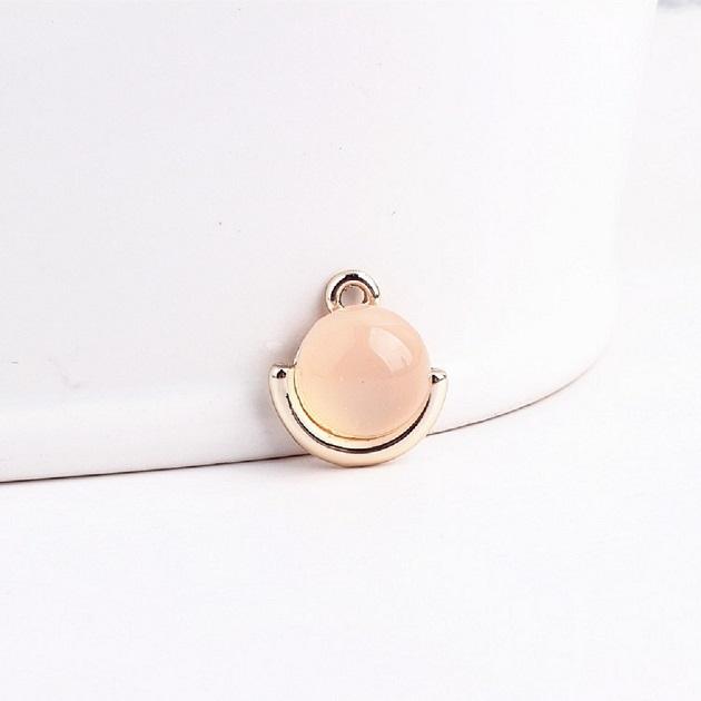 無限大專利磁扣皮革手鍊 X  水潤輕珠寶設計鑲嵌粉橘款 1