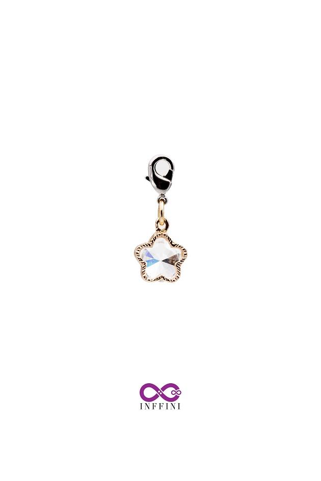 無限大專利磁扣皮革手鍊 X K金色五花瓣設計金屬內嵌鋯石款 1