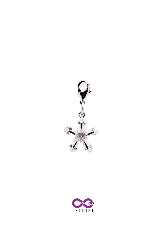 無限大專利磁扣皮革手鍊 X 優美花朵設計鑲嵌真鋯石款 1