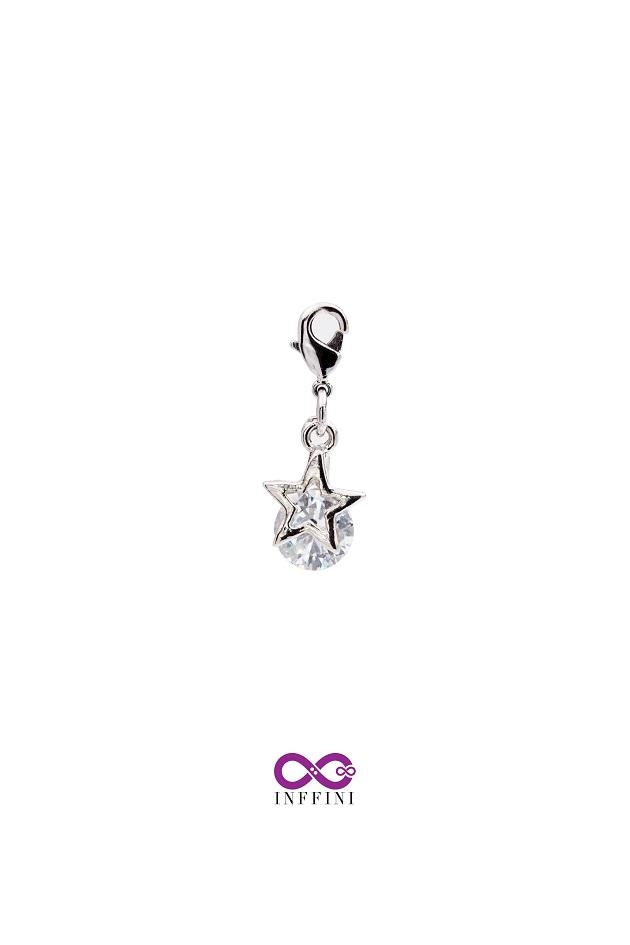 無限大專利磁扣皮革手鍊 X 白K色夜空中最亮的星內嵌鋯石星鑽系列 1