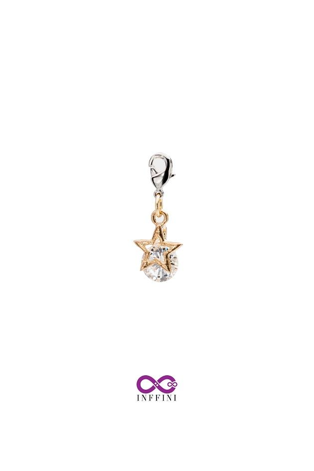 無限大專利磁扣皮革手鍊 X K金色夜空中最亮的星內嵌鋯石星鑽系列 1