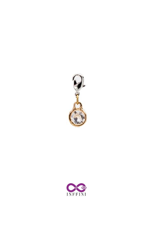無限大專利磁扣皮革手鍊 X K金色小圓型內嵌鋯石款系列 1