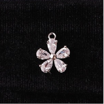 無限大專利磁扣皮革手鍊 X 韓系生命之花立體設計真鋯石鑲嵌款 1
