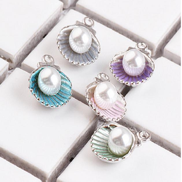 無限大專利磁扣皮革手鍊 X 韓系彩虹貝殼珍珠立體設計吊墜 1