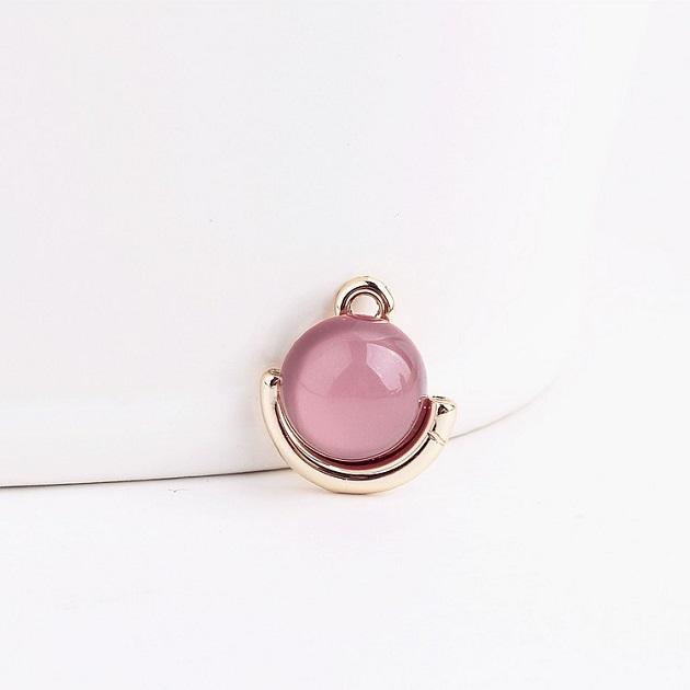 無限大專利磁扣皮革手鍊 X  水潤輕珠寶設計鑲嵌粉紅款 1