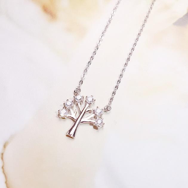 925純銀項鍊女鎖骨鏈幸福樹吊墜簡約短款配飾百搭 4