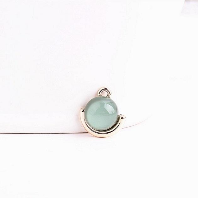 無限大專利磁扣皮革手鍊 X  水潤輕珠寶設計鑲嵌粉綠款 1
