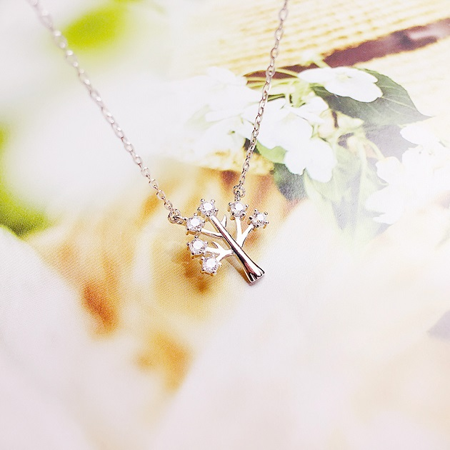 925純銀項鍊女鎖骨鏈幸福樹吊墜簡約短款配飾百搭 3