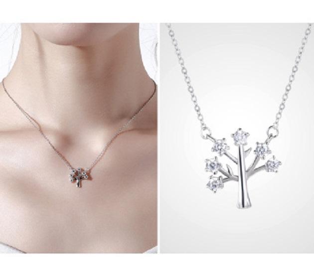 925純銀項鍊女鎖骨鏈幸福樹吊墜簡約短款配飾百搭 2