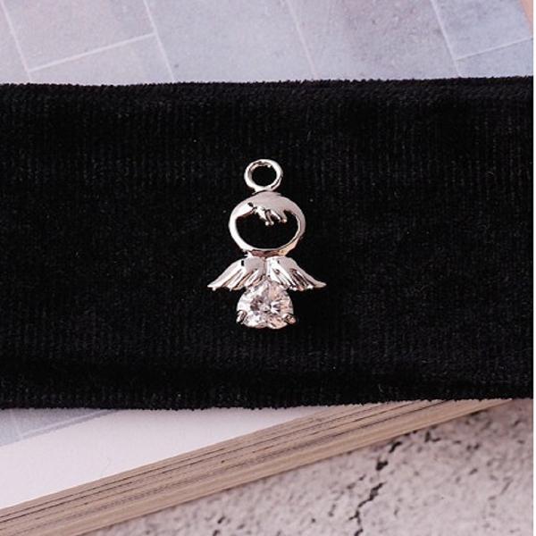 無限大專利磁扣皮革手鍊 X 韓系<聽天使在唱歌>立體設計真鋯石鑲嵌款 1